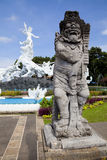 Guardian at Satria Gatotkaca Statue, Bali. Image of an entrance guardian at the Satria Gatotkaca Statue at Kuta, Bali, Indonesia Stock Photos
