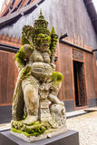 Guardian statue in Baan Dam Temple, Thailand Stock Image
