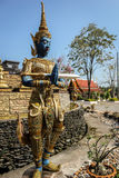 The guardian statue. At bangkaenoi temple Stock Photo
