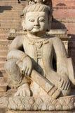 Guardian statue - Bhaktapur, Nepal Stock Photography