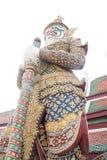 Guardian Statue. Demon Guardian Wat Phra Kaew Grand Palace Bangkok Royalty Free Stock Images