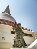 The guardian. Guardian statue Pathom Chedi Phra Pathom in Thailand Stock Images