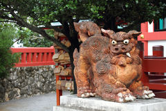 Guardian statue (Shisa) in Okinawa, Japan Stock Images