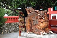 Guardian statue (Shisa) in Okinawa, Japan stock images