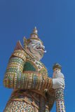 Guardian statue at the Temple of Dawn,Thailand Royalty Free Stock Photos