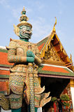 Guardian statue at Wat Phra Kaew Stock Photo