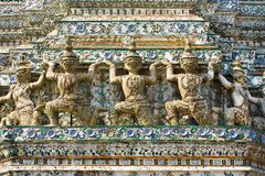 Guardian statue (yak) at the temple Wat Arun Royalty Free Stock Photos