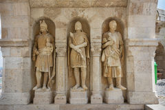 Guardian statues Fisherman's Bastion Budapest Royalty Free Stock Photo