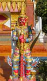 Guardian Suriyaphob, mythological guard statue in Thailand wat. Guardian Giant Suriyaphob at Thai Buddhist Temple , mythological guard statue in Thailand wat Stock Photography
