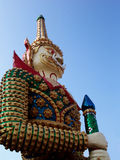 Giant guardian at a Thai temple royalty free stock photos