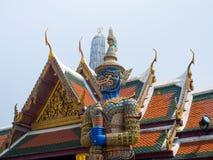 Guardian in Wat Phra Kaew Grand Palace Bangkok Stock Photography