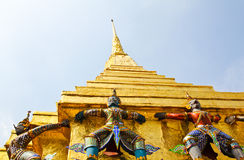 Guardian of Wat Pra Kaew ,Bangkok ,Thailand. Royalty Free Stock Photo