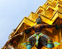 Guardian of Wat Pra Kaew ,Bangkok ,Thailand. Stock Images