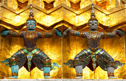 Guardian of Wat Pra Kaew Grand Palace Bangkok royalty free stock image