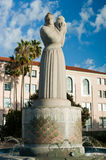 """Guardian of Water. The """"Guardian of Water"""" sculpture fountain, dedicated in 1939, stands in front of the San Diego City and County Administration Building in Royalty Free Stock Image"""
