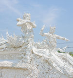 Guardian at the white temple Stock Image
