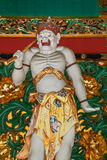 A Guardian at Yashamon Gate at Taiyuinbyo Shrine Royalty Free Stock Photo