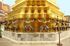 Guardiani del tempiale a Wat Phra Keo Fotografia Stock