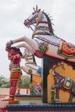 Guardiani del villaggio nello stato del Tamil Nadu, India Fotografia Stock