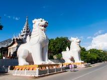 Guardiani della collina di Mandalay Fotografia Stock