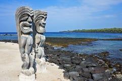 Guardiani di sovranità hawaiana Fotografia Stock