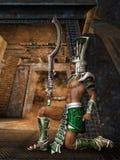 Guardiano della piramide Fotografia Stock