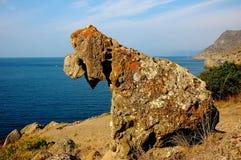 Guardiano della roccia della baia di Meganom Immagini Stock Libere da Diritti
