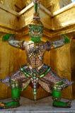 Guardiano gigante tailandese verde immagine stock