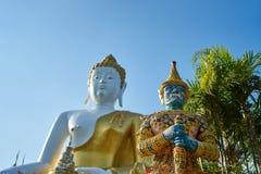 Guardiano gigante Wat Prathat Doi Kam Fotografia Stock
