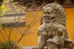 Guardiano Lion Statue fotografia stock libera da diritti