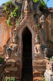 Guardians in ancient Burmese Buddhist pagodas Stock Image