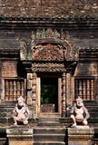 The guardians of Banteay srei in Cambodia Royalty Free Stock Photos