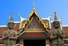 The guardians of The Emerald Buddha Temple Stock Photos