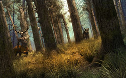 Guardians of the forest Stock Images