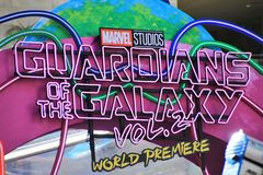 Guardians of the Galaxy sign Royalty Free Stock Photo