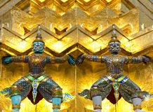 Guardians at Grand Palace, Bangkok Stock Photos