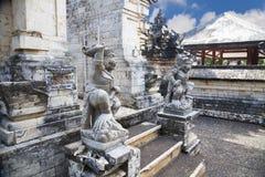Guardians at Uluwatu Temple, Uluwatu, Bali. Image of stone guardians at the entrance to the hindu Uluwatu Temple at Uluwatu, Bali, Indonesia Stock Photo