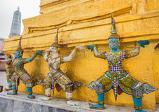 Guardians in Wat Phra Keaw Royalty Free Stock Photos