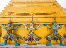 Guardians in Wat Phra Keaw Stock Photos