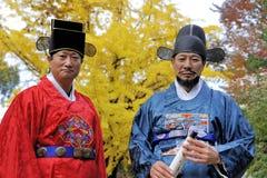 Guardias armados en el palacio de Deoksugung, Seul, Corea del Sur Fotografía de archivo