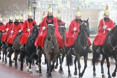 Guardias de británicos en Londres Fotografía de archivo libre de regalías