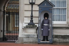 Guardias de británicos en Londres Imágenes de archivo libres de regalías
