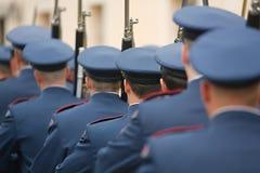 Guardias de palacio armados Imagenes de archivo