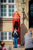 Guardias del honor en Copenhague Imagen de archivo libre de regalías