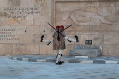 Guardias en Atenas Foto de archivo libre de regalías