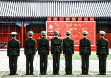 Guardias en la Plaza de Tiananmen, Pekín, China 1 Fotos de archivo