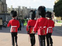 Guardias en Windsor Castle Foto de archivo