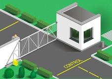Guardias isométricos del edificio Imagen de archivo