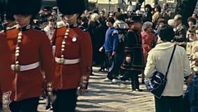 Guardias que marchan de Londres metrajes