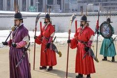 Guardias reales surcoreanos Fotografía de archivo libre de regalías